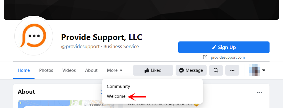 Static HTML tab on Facebook page