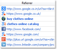 Referrer  icons