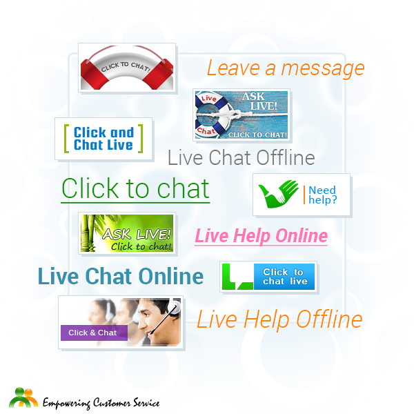 Chat Button and Text Chat Link Codes