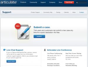 Articulate website example