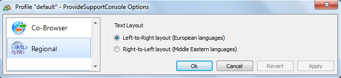 Right-to-Left language settings for live chat console