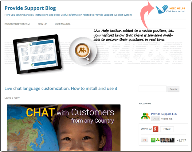 Live Chat WordPress Plugin