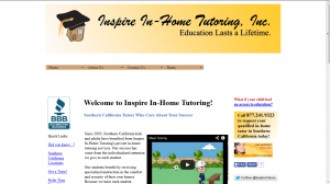 Inspire In-Home Tutoring Website Example