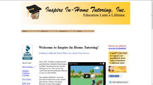 Inspire In-Home Tutoring Website Example