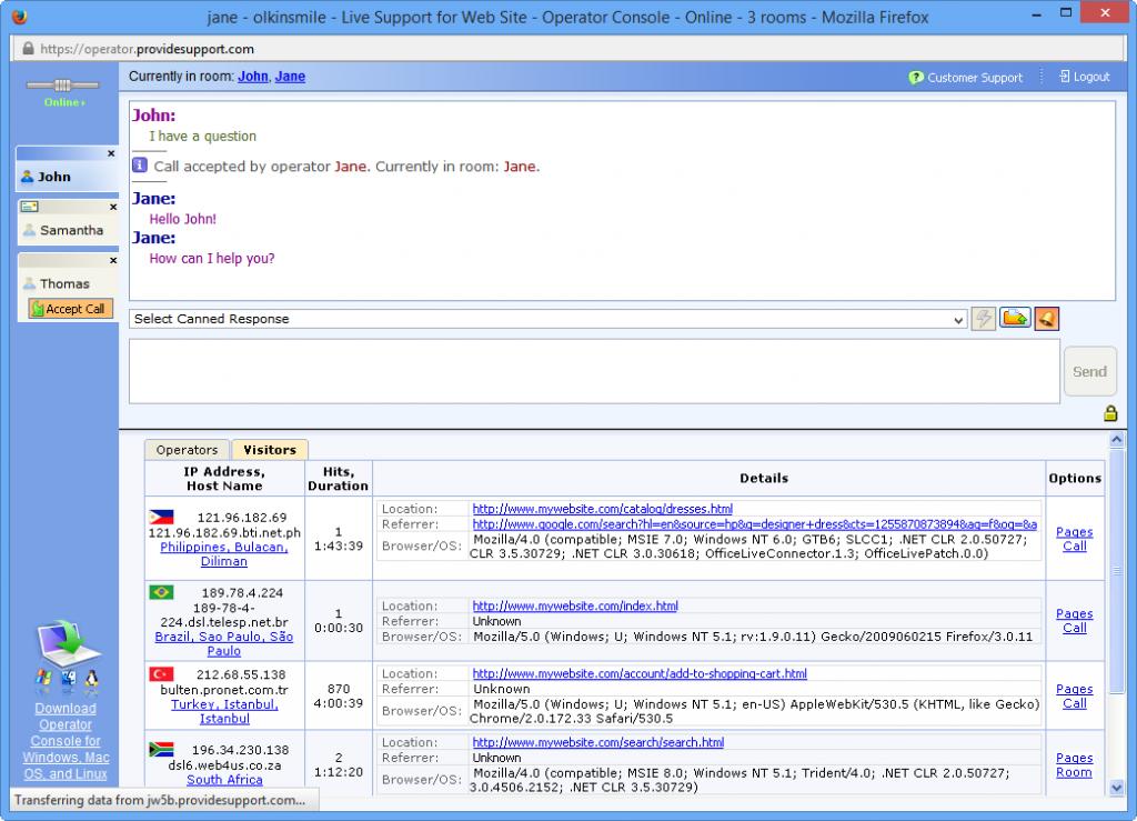 Web Based Operator Console
