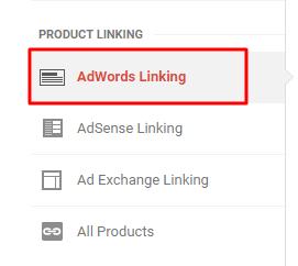 adwords linking in ga