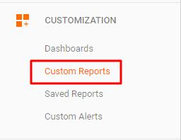 custom ga reports for live chat