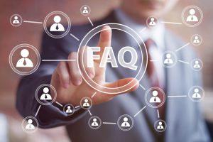 FAQ page for self service