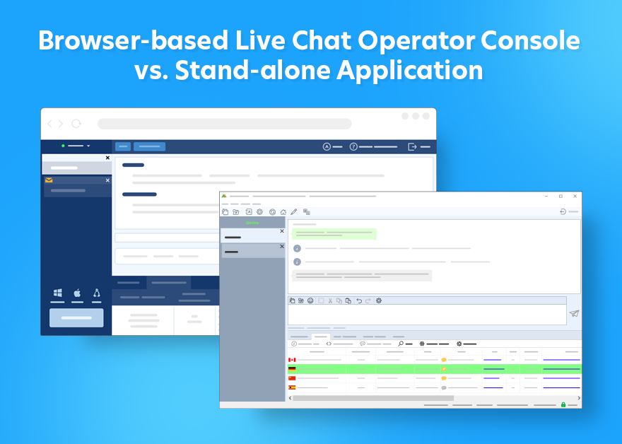 browser based operator console vs stand-alone operator console app
