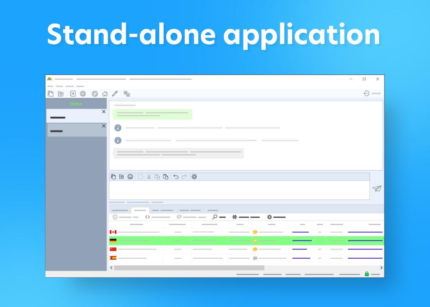 stand-alone operator console