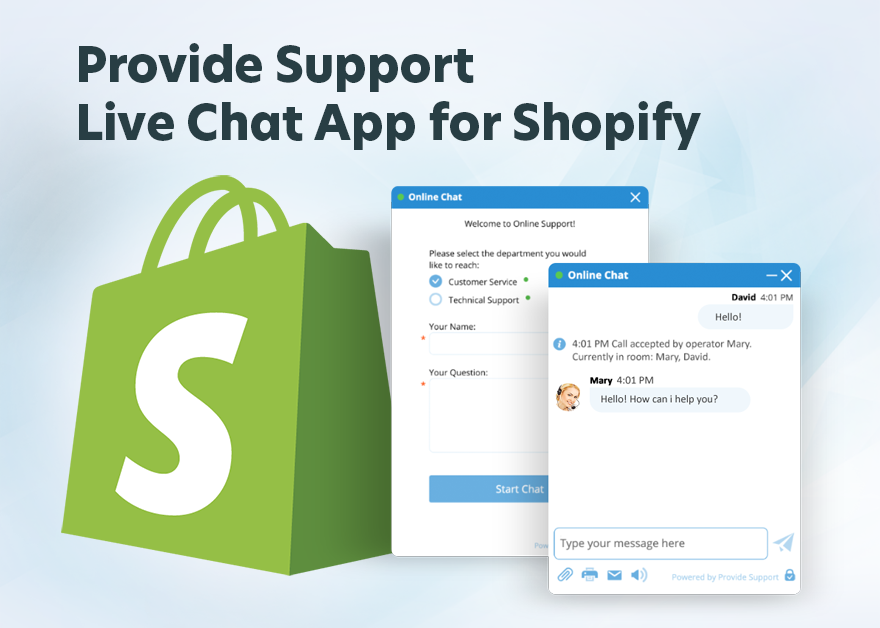 Provide Support live chat app for Shopify