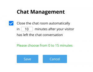Automated closing of inactive chats