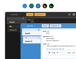 Color themes for browser agent app