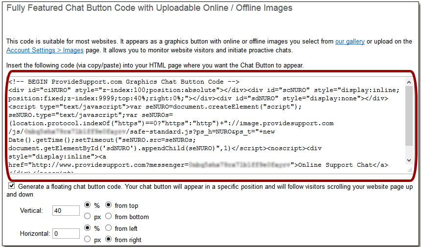 Chat Buttom Code Example