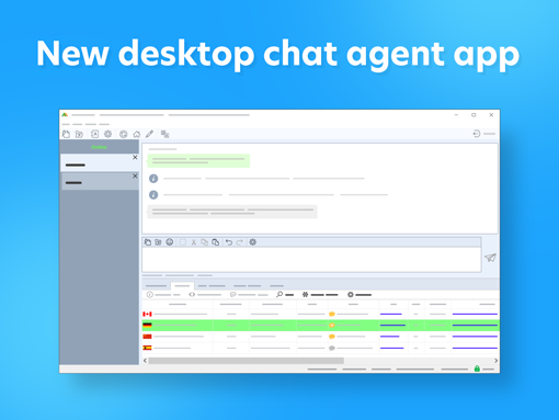 Updated desktop chat agent app