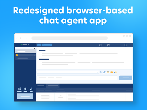Redesigned web chat agent app